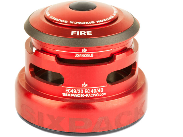 Sixpack Fire 2In1 Headset ZS44/28.6 I EC49/30 and ZS44/28.6 I EC49/40, red